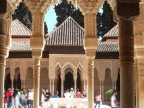 Moorish arches and tiled roof, Alhambra palace