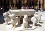 Famous lion fountain, Alhambra Palace