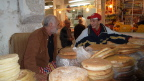 Selling fresh bread, old market in Tangiers