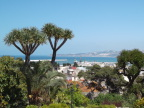 View of Mediterranean from our couscous lunch at Hotel Royal in Tangiers