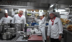 Our chefs in galley of Viking Atla