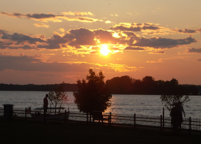 Sunset over the Thousand Islands
