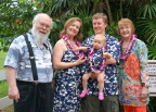 Hansens and Volmers at the Luau, Kauai