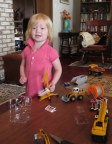 Grandma thinks little girls should play with trucks as well as princesses