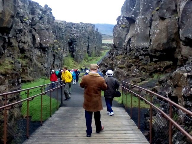 Walking down the rift between the Atlantic and Eurasian plates