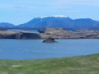 Remains of volcanic cones on Lake Myvatn