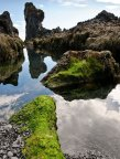 Ancient rocks and reflections, Snæfellsness peninsula shore