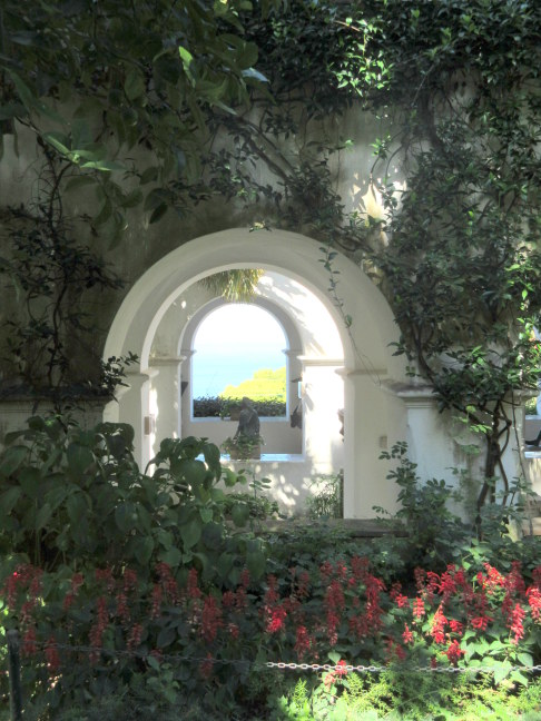 Gardens of castle, Upper Capri