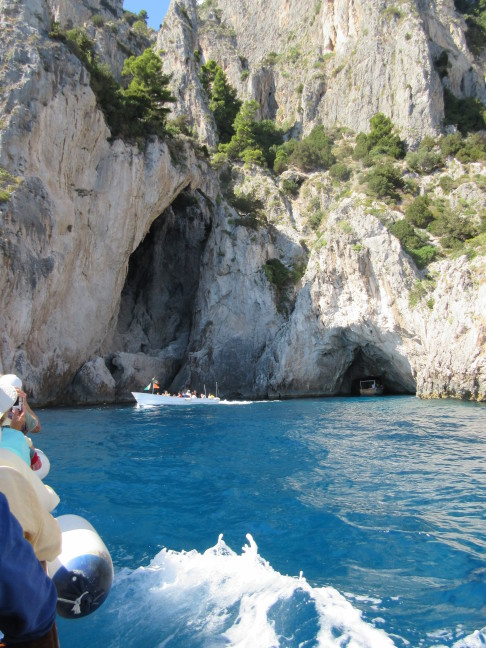 The famous grottoes of Capri
