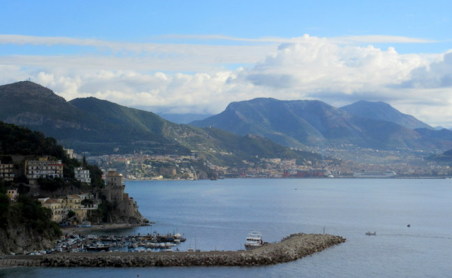 THe Bay of Salerno, where the allies landed in World War II