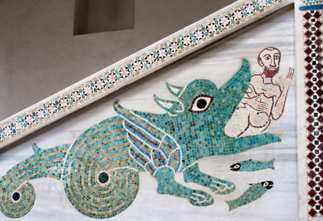 Mosaic of the whale swallowing Jonah, Ravello church