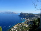 View of Capri and Bay of Naples from Mamma Mia!! highway to Upper Capri