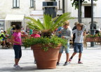 Children in Ravello town plaza