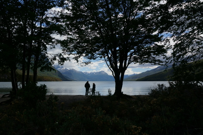 Taking in the scenery, Tierra del Fuego National Park, Argentina