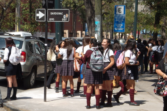 School has just let out in Santiago
