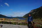 Posing in front of the scenery, Tierra del Fuego National Park, Argentina