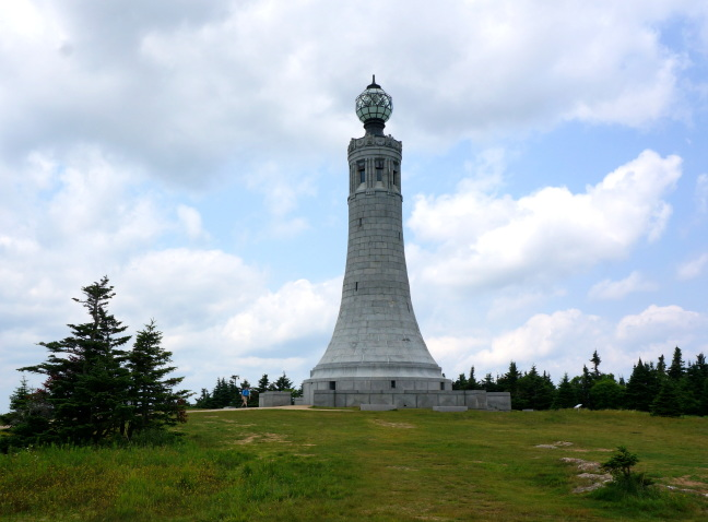 Veterans War Memorial tower on the summit, Mt Greylock, MA