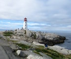 Peggy's Cove lighthouse, built on ancient granite rocks