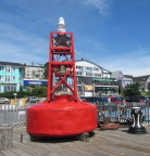 Buoy on the boardwalk, historic Lunenberg, NS