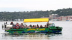 Joan and I toured Halifax harbour in one of these cute duckboats