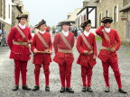 Costumed band members, Fortress Louisburg