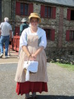 Costume from 17th century French village at restored Fortress Louisburg