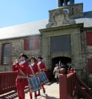 Noonday parage with fife and drums, female drill sergeant,King's Bastion