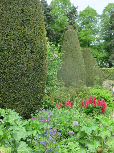 Hedges and long border, Hidcote