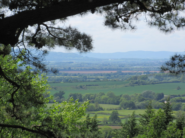 View of the Cotswolds from Klitgate garden
