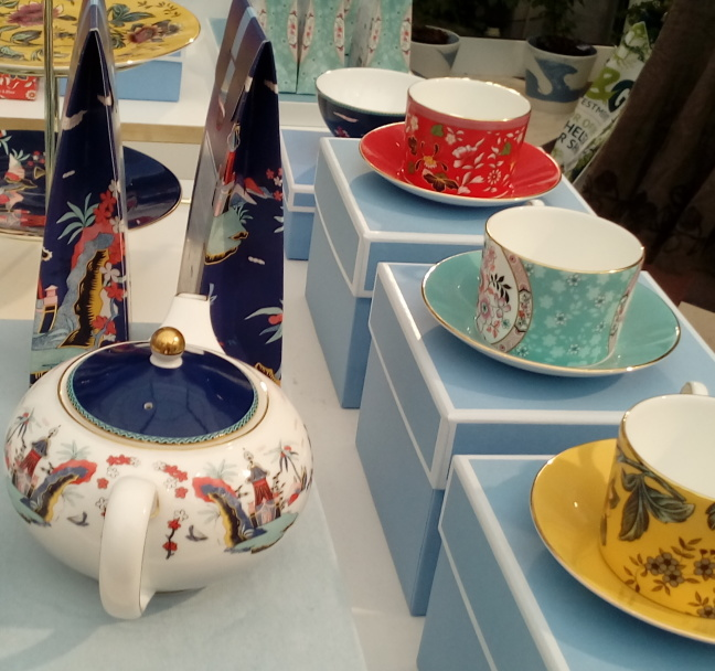 Wedgewood display and tea sampling, Chelsea pavillion