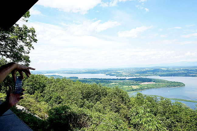 Fort Ticonderoga occupies a strategic point jutting into Lake Champlain