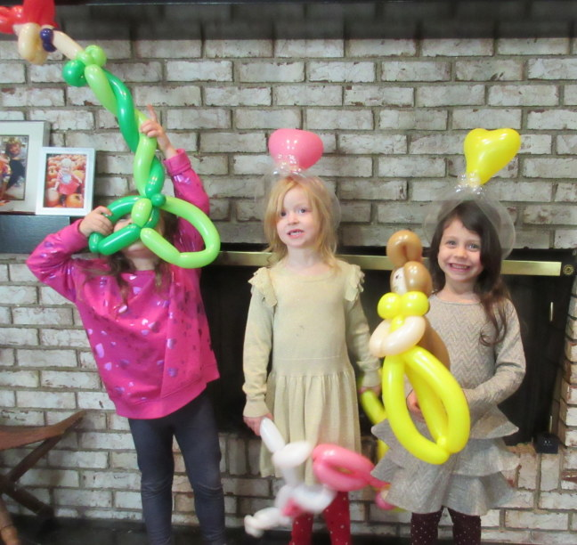 Schenley and friends showing off their balloons