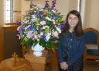 Great-grand-daughter #1 - Isabella Flores - rivals the memorial service bouquet