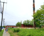 "Tourists visit the ""World's Tallest Filing Cabinet"""