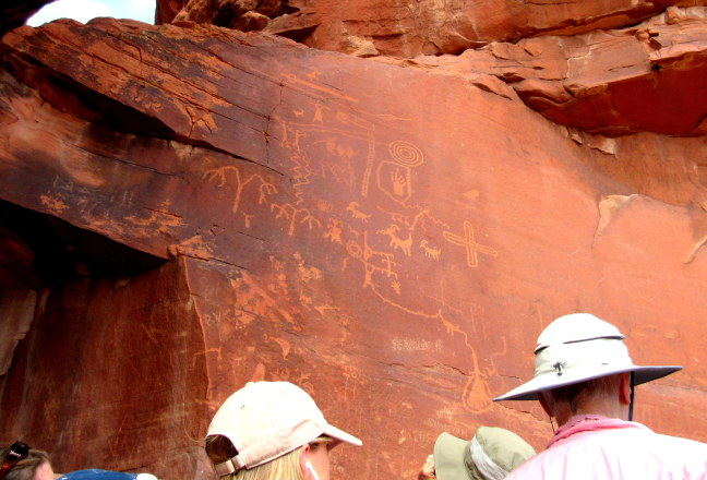 Ancient petroglyphs, Valley of Fire, Nevada