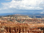 hHunderstorm over distant plateau from Bryce Canyon