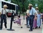 Amish family enjoying Zion