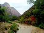 Roaring Virgin River carved out Zion
