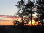 Sunset view from North Rim lodge