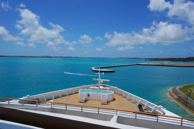 The view of Bermuda from our stateroom