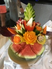 One of the clever creations at the fruit carving demonstration